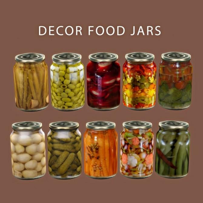 Sims 4 Food Jars (P) at Leo Sims