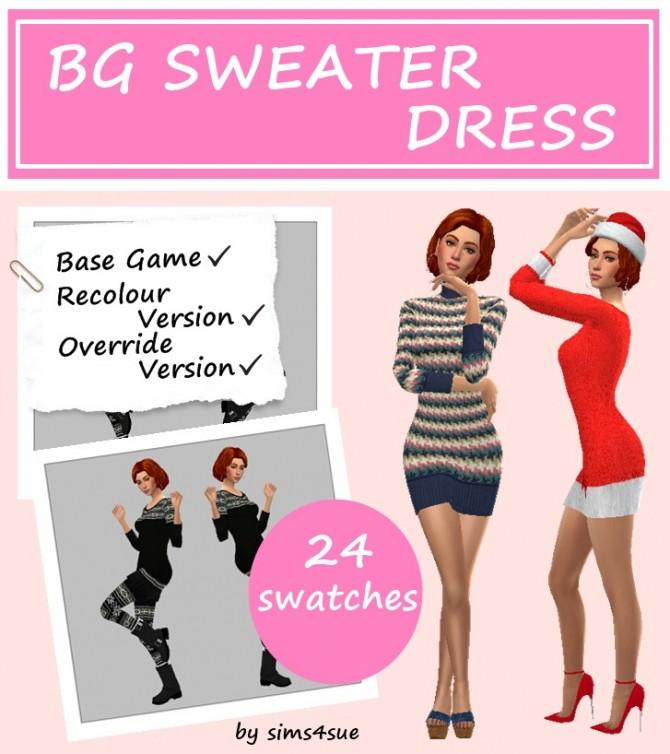 Sims 4 BG SWEATER DRESS at Sims4Sue