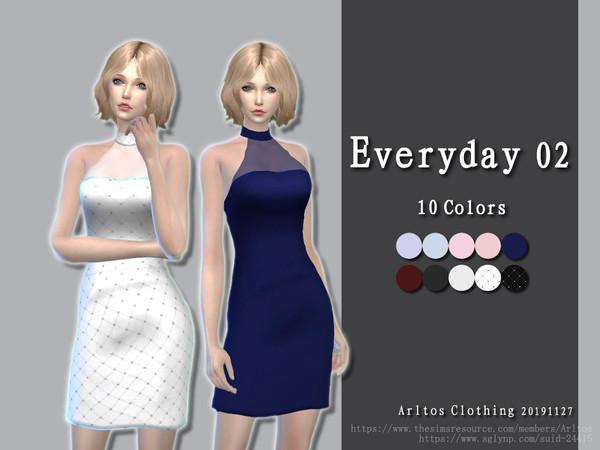 Sims 4 Everyday 02 dress by Arltos at TSR