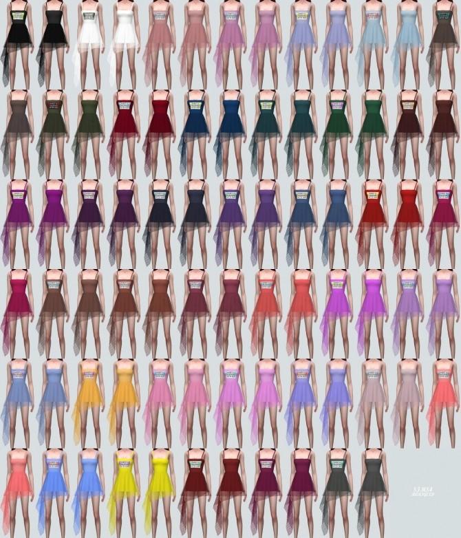 Sims 4 Lily Asymmetric Mini Dress See Through V at Marigold