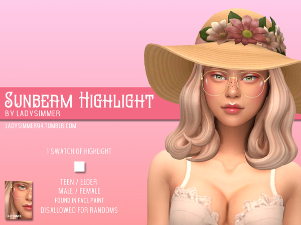 Sims 4 Sunbeam Highlight by LadySimmer94 at TSR