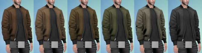 Sims 4 Bomber Jacket in Suede Leather (P) at Darte77