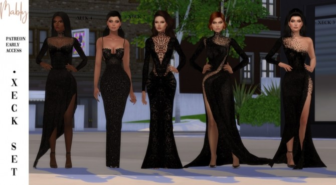 Sims 4 XECK DRESSES SET (P) at Mably Store