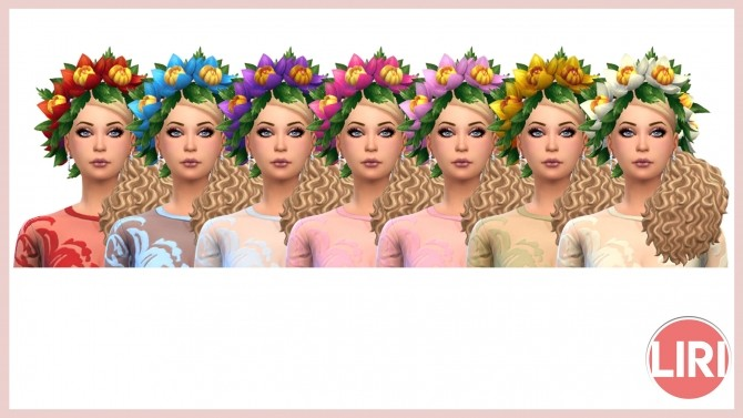 Sims 4 Flower Crown by Lierie at Mod The Sims