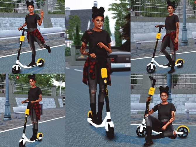 Sims 4 Electric Scooter Poses at Katverse
