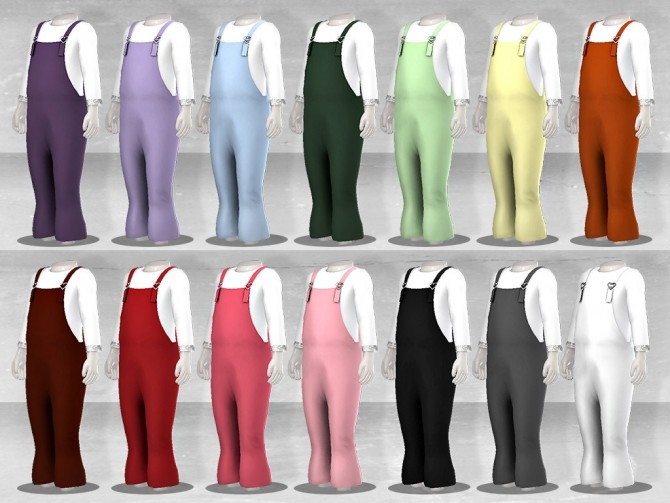 Sims 4 Bell Bottom Overalls at TØMMERAAS