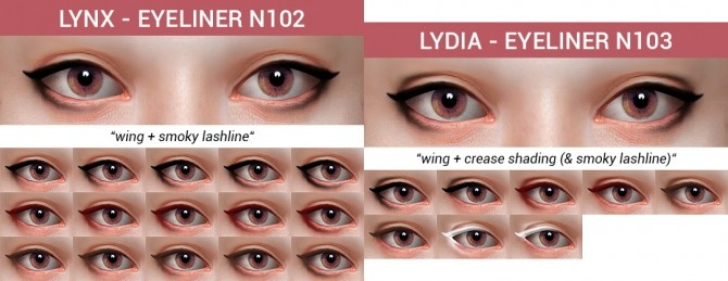 10 Eyeliners Dump collection at Praline Sims image 899 670x259 Sims 4 Updates