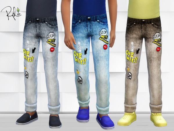 One way stop jeans for Kids by RobertaPLobo at TSR image 9 Sims 4 Updates