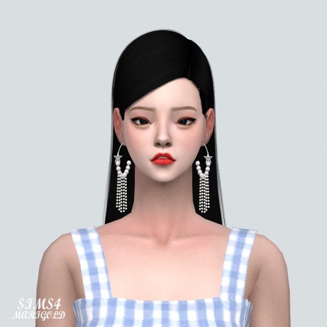 Sims 4 Star Pearl Ring Earring With Vertical Pearl at Marigold