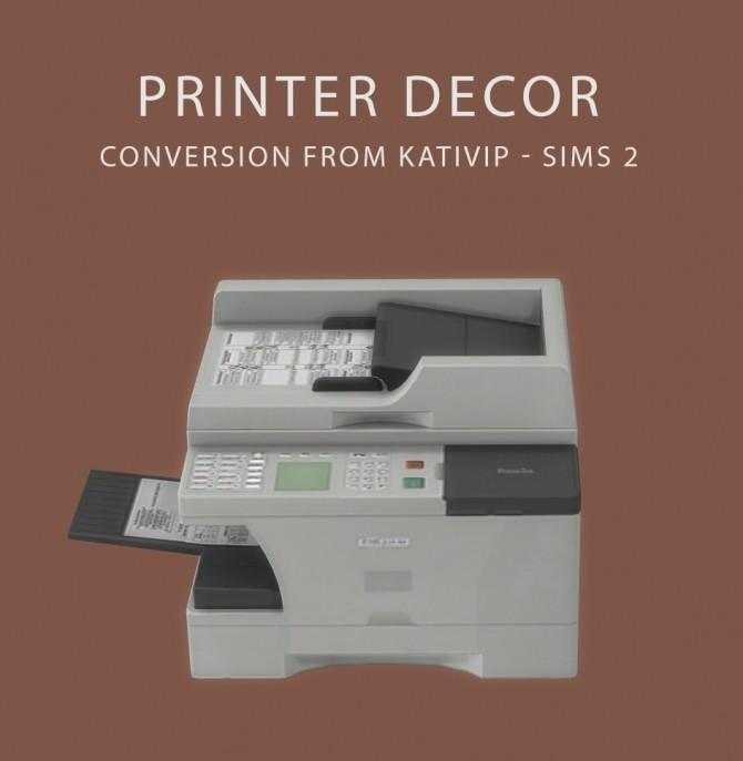 Sims 4 Decor Printer at Leo Sims
