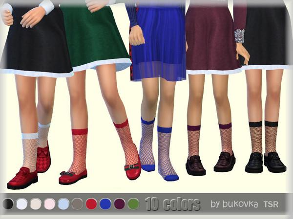 Sims 4 Mesh Socks child f by bukovka at TSR