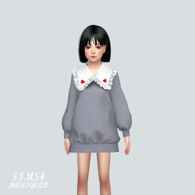 Child Frill Long Sweatshirts (P) at Marigold image 907 670x670 Sims 4 Updates