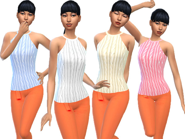 Sims 4 Female knitted top by TrudieOpp at TSR