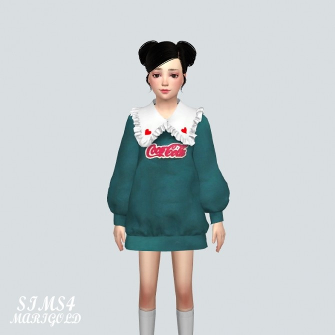 Child Frill Long Sweatshirts (P) at Marigold image 9112 670x670 Sims 4 Updates