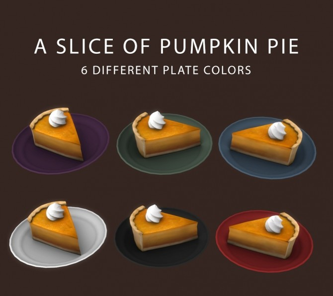 Sims 4 Slice Of Pumpkin Pie at Leo Sims