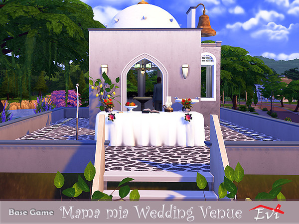 Sims 4 Mama mia Wedding Venue by evi at TSR