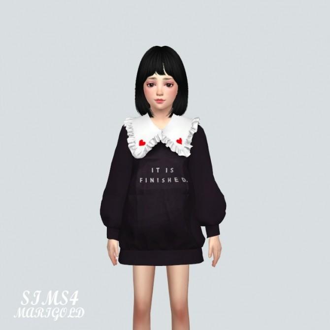 Child Frill Long Sweatshirts (P) at Marigold image 928 670x670 Sims 4 Updates