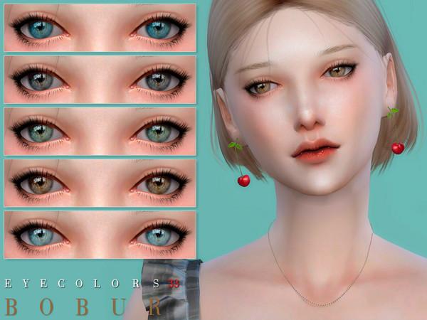 Sims 4 Eyecolors 33 by Bobur3 at TSR