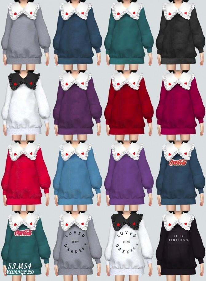 Child Frill Long Sweatshirts (P) at Marigold image 937 670x910 Sims 4 Updates