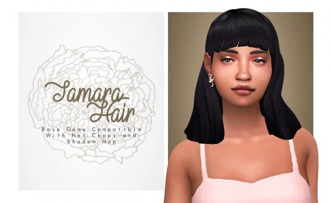 Tamara nice autumn bang hair at Isjao – working on uni image 939 670x410 Sims 4 Updates
