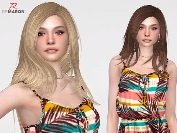 Sims 4 Runaway Hair Retexture by remaron at TSR