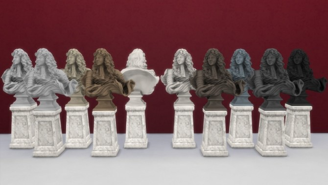 Sims 4 Bust of Louis XIV by TheJim07 at Mod The Sims