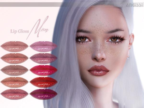 Lip Gloss Misa by ANGISSI at TSR image 943 Sims 4 Updates