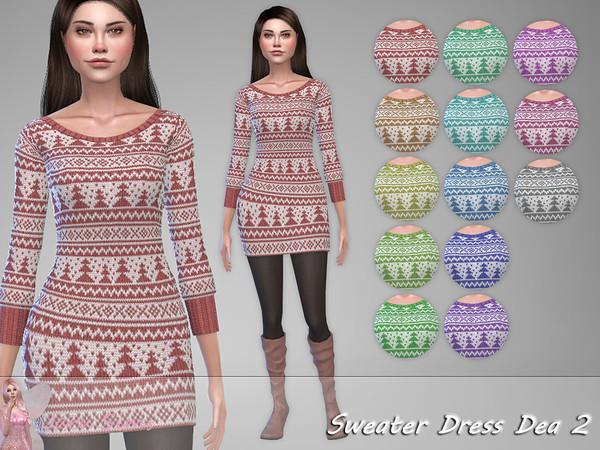 Sims 4 Sweater Dress Dea 2 by Jaru Sims at TSR