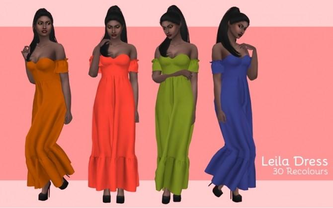 Sims 4 Leila dress at Midnightskysims