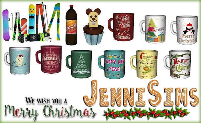 Sims 4 Christmas clutter 4 Items at Jenni Sims