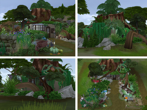 Sims 4 Swamp Hut by Ineliz at TSR