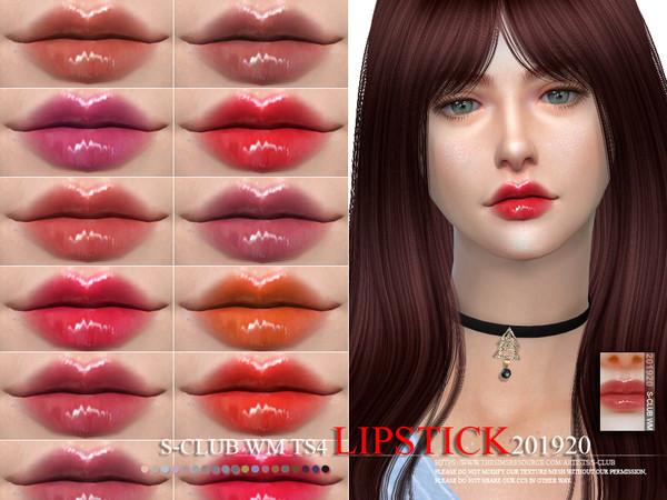 Sims 4 Lipstick 201920 by S Club WM at TSR