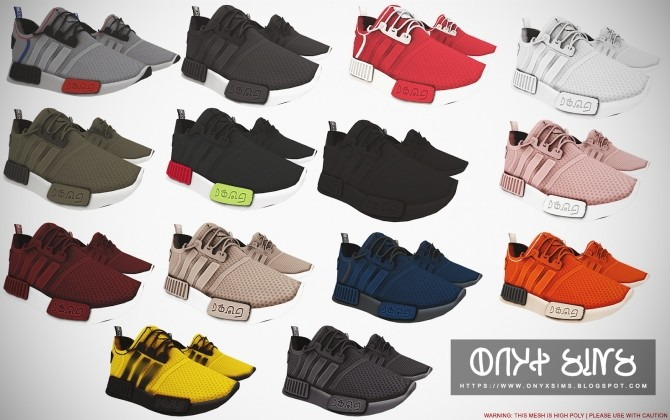 Sims 4 NMD R1 Sneakers | Child Version at Onyx Sims