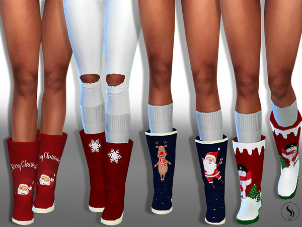 Sims 4 New Year Sweety Home Boots by Saliwa at TSR