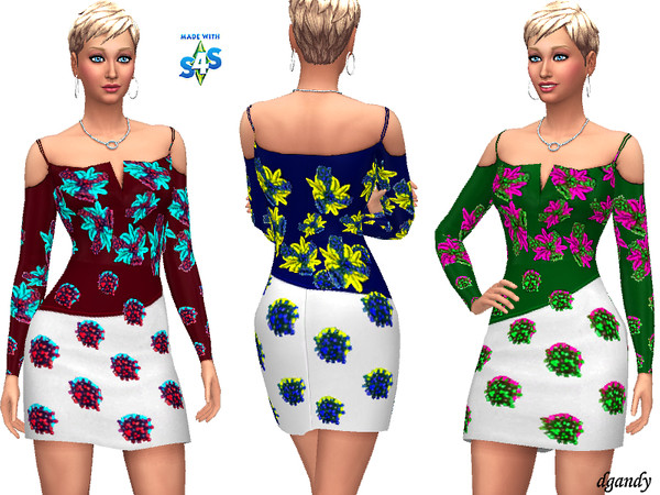 Sims 4 Dress 20191222 by dgandy at TSR