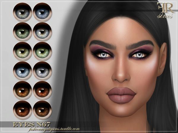 Sims 4 FRS Eyes N67 by FashionRoyaltySims at TSR