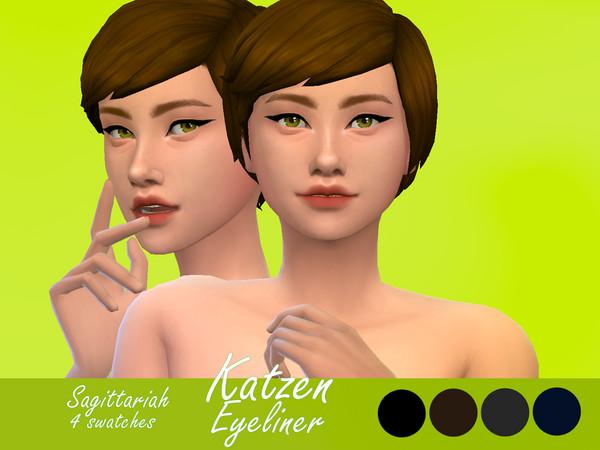 Katzen Eyeliner by Sagittariah at TSR image 1070 Sims 4 Updates