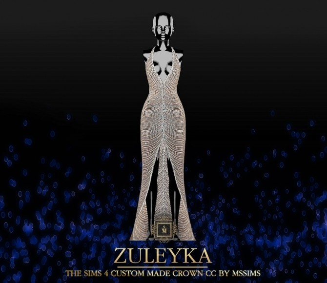 Sims 4 ZULEYKA GOWN (P) at MSSIMS
