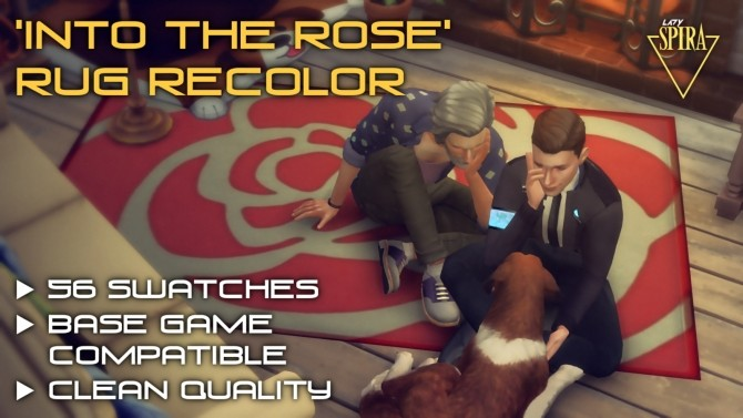 Sims 4 Into The Rose Rug Recolor by LadySpira at Mod The Sims
