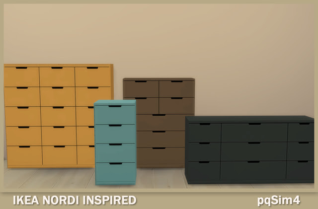Sims 4 Nordi chests of drawers at pqSims4