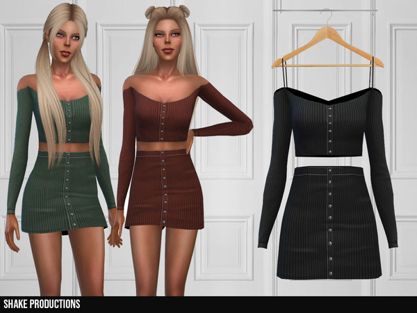 Sims 4 353 Dress by ShakeProductions at TSR