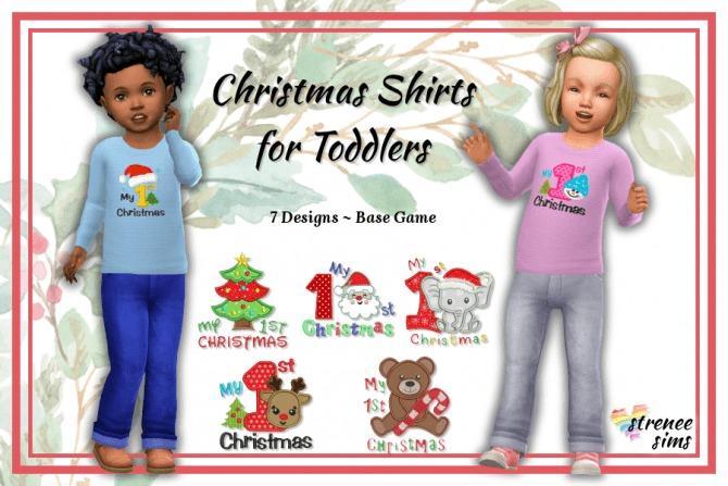 Sims 4 Christmas Sweatshirts & Toddler Shirts at Strenee Sims