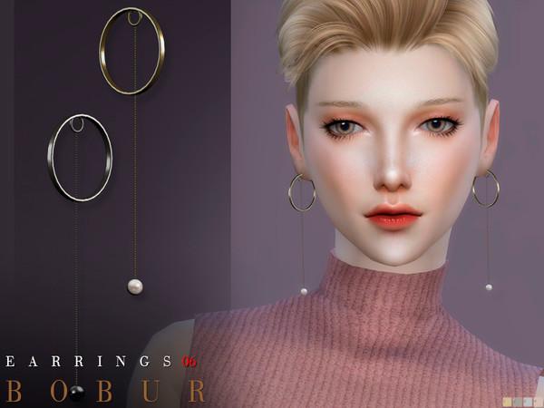 Sims 4 Earrings 06 F   4 colors HQ by Bobur3 at TSR