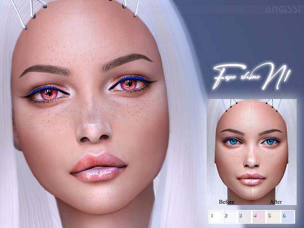 Face Shine N1 by ANGISSI at TSR image 11511 Sims 4 Updates