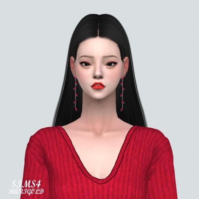 Sims 4 Leaf Line Earrings at Marigold