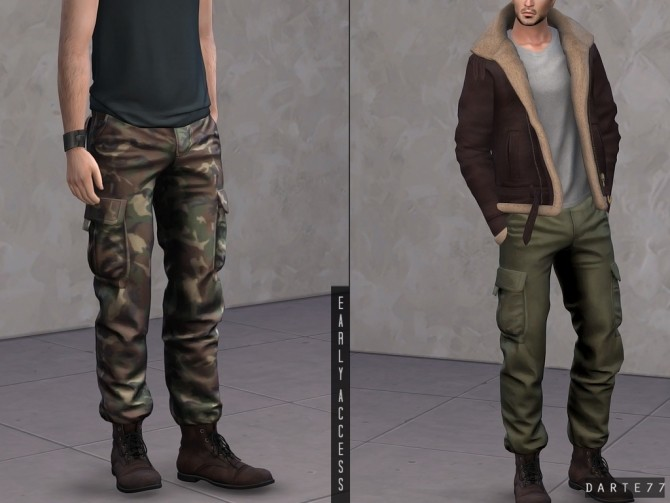 Sims 4 Military Pants (Cargo) at Darte77