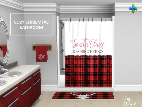 Cozy Christmas Bathroom by Chicklet453681 at TSR image 12 Sims 4 Updates