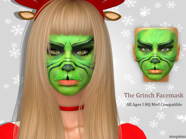 The Grinch Facemask at MSQ Sims image 12013 Sims 4 Updates