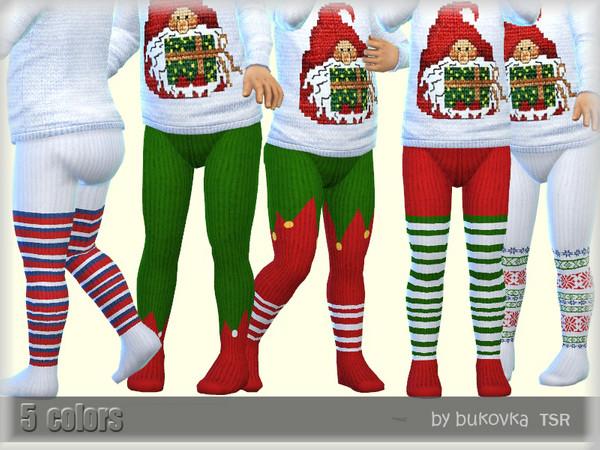 Sims 4 Christmas Tights by bukovka at TSR