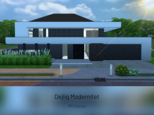 Sims 4 Dejlig Modernitet ultra modern home by MR Design at TSR
